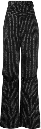 Unravel Project Striped Wide-Leg Trousers