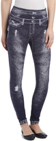 Navy Distressed Leg Leggings