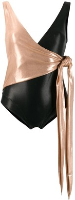 Lisa Marie Fernandez wrap-style swimsuit