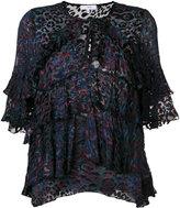 IRO jacquard tier blouse