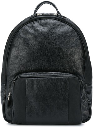 Zanellato Cracked Leather Backpack