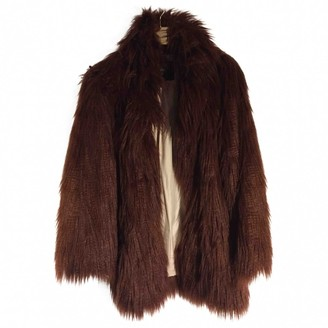 River Island \N Burgundy Faux fur Coat for Women