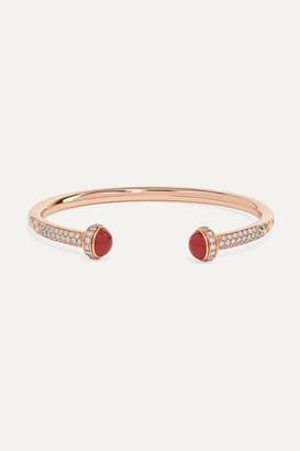 Piaget Possession 18-karat Rose Gold, Diamond And Carnelian Cuff