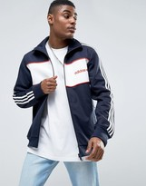 Adidas Originals London Pack Block Track Jacket In Blue Bk7846