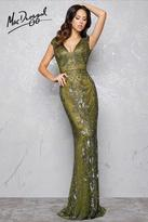Mac Duggal Couture - 4433 V Neck Gown In Olive