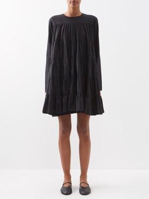 Merlette New York Soliman Tiered Cotton Mini Dress - Womens - Black