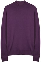 John Smedley Harcourt Purple Merino Wool Jumper