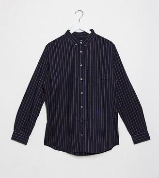 Burton Menswear Big & Tall shirt in navy stripe
