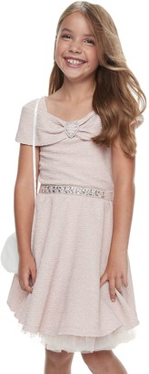 Knitworks Girls 7-16 & Plus Size Knit Works Pleated Dress & Purse Set