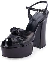 Saint Laurent Candy Leather Platform Sandal
