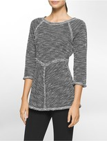 Calvin Klein Performance Marled 3/4 Sleeve Top
