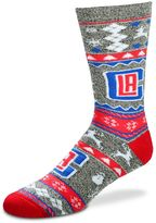 For Bare Feet Men's Los Angeles Clippers Holiday Crew Socks