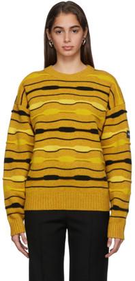 Martine Rose NAPA by Yellow Striped Knit Crewneck Sweater