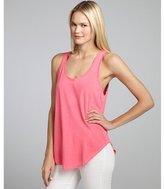 LnA hot pink cotton-blend jersey knit 'tulum' tank