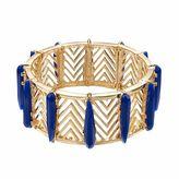 JLO by Jennifer Lopez Blue Stone Openwork Chevron Stretch Bracelet