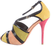 Christian Dior Suede Colorblock Sandals