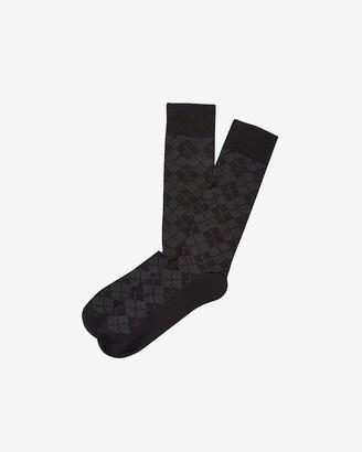 Express Textured Plaid Dress Socks