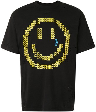 Dom Rebel destroyed Sad Emoticon T-shirt