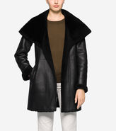 Cole Haan Hooded Shearling Coat