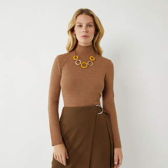 Warehouse KNITTED FUNNEL NECK TOP