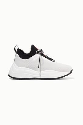 Prada America's Cup Rubber, Nylon And Mesh Sneakers - White