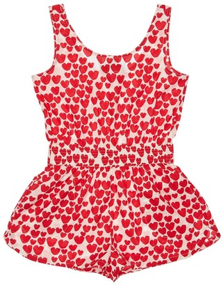 Stella McCartney Heart Print Organic Cotton Overalls