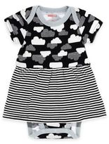 Skip Hop SKIP*HOP® Star-Struck Cloud Short Sleeve Bodysuit Dress in Black/White