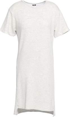 Monrow Melange French Cotton And Modal-blend Terry Mini Dress