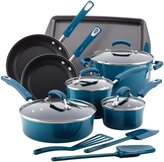 Rachael Ray Hard Enamel Nonstick Cookware Set - Marine Blue - 14 pc