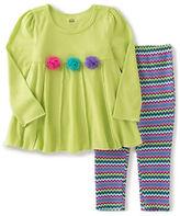 Kids Headquarters Baby Girls Two-Piece Tunic and Chevron Leggings Set