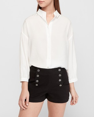 Express High Waisted Button Front Shorts