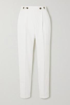 Philosophy di Lorenzo Serafini Pleated Cady Slim-leg Pants - White
