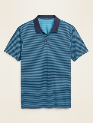 Old Navy Go-Dry Cool Odor-Control Striped Core Polo for Men