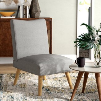 "Langley StreetTM Jorge 22"" Side Chair Langley Street Fabric: Gray Polyester"