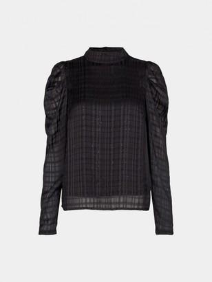 Sofie Schnoor Black Debbie Blouse - medium | polyester | black - Black/Black