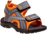 Rugged Bear Boys' Sandals Grey - Orange & Gray Front-Strap Sandal - Boys