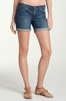 'City' Cuff Denim Shorts (Abyss)