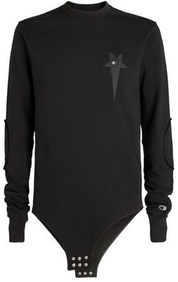 Rick Owens X Champion Sweatshirt Bodysuit