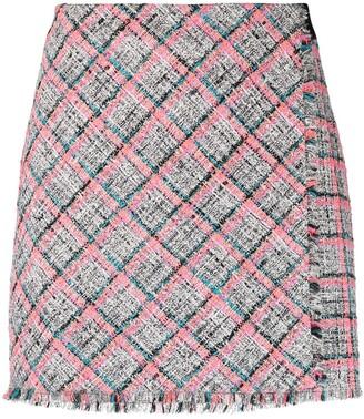 Karl Lagerfeld Paris Summer tweed-boucle skirt