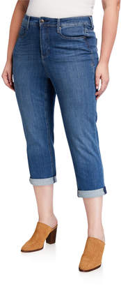 NYDJ Plus Size Shape Slim Straight Cropped Jeans
