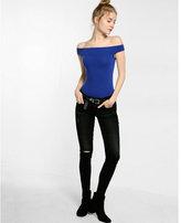 Express off the shoulder banded thong bodysuit