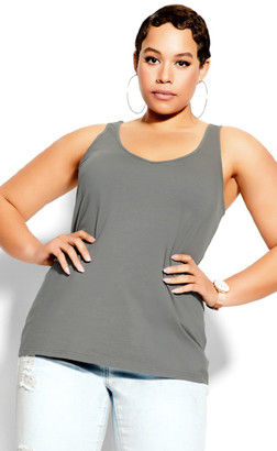 City Chic Sweetheart Cami - grey