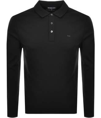 Michael Kors Sleek Long Sleeve Polo T Shirt Black