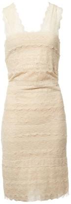 Alexander McQueen Beige Lace Dresses
