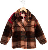 Scotch & Soda Girls' Plaid Double-Breasted Coat w/ Tags