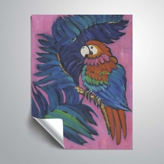 ArtWall Hot Tropical Parrot, Removable Wall Art Mural by Holly Wojahn