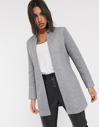 Only tailored coat in grey