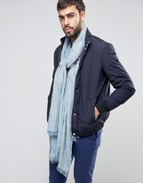 Asos Lightweight Textured Blanket Scarf In Blue
