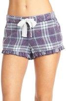 Make + Model Plaid Ruffle Pajama Shorts