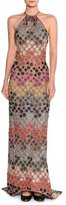 Missoni Lurex® Metallic Polka-Dot Halter Gown, Multicolor